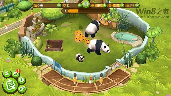 玩家自己控制动物园管理,照顾超过40种动物。玩家必须创建动物的栖息地。WP8.1和Win8.1版本将共享游戏档案进度,当然这也是一款Xbox Live游戏,有Xbox成就,可以和朋友在排行榜上一决高下。   《动物园大亨:朋友》将独占Windows Phone 8.1和Windows 8.1移动平台,WP8.1版还未上架。目前该游戏暂时只在特立尼达和多巴哥 地区上架。切换区域方法:电脑控制面板区域位置设置当前位置。