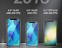 分析师预测,明年将会出现6.5英寸iPhone X Plus和6.1英寸LCD机型