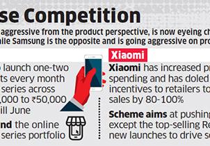 三星与小米将决战印度手机市场主导权